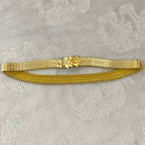 Vintage Gold Rose Scaled Waist Belt